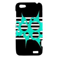 Cyan abstract design HTC One V Hardshell Case