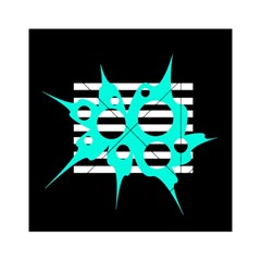 Cyan abstract design Acrylic Tangram Puzzle (6  x 6 )