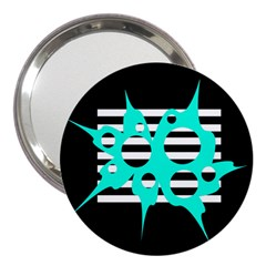 Cyan abstract design 3  Handbag Mirrors