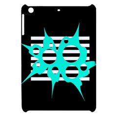 Cyan abstract design Apple iPad Mini Hardshell Case