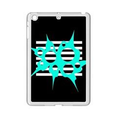 Cyan abstract design iPad Mini 2 Enamel Coated Cases