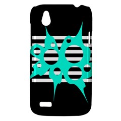 Cyan abstract design HTC Desire V (T328W) Hardshell Case