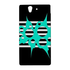 Cyan abstract design Sony Xperia Z
