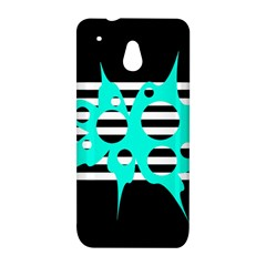 Cyan abstract design HTC One Mini (601e) M4 Hardshell Case
