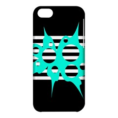 Cyan abstract design Apple iPhone 5C Hardshell Case
