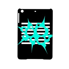 Cyan abstract design iPad Mini 2 Hardshell Cases
