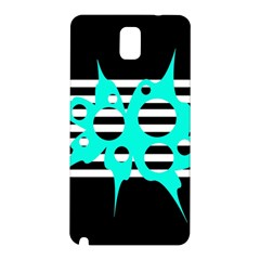 Cyan abstract design Samsung Galaxy Note 3 N9005 Hardshell Back Case