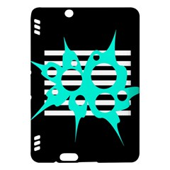 Cyan abstract design Kindle Fire HDX Hardshell Case