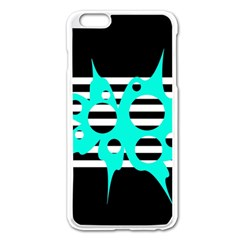 Cyan abstract design Apple iPhone 6 Plus/6S Plus Enamel White Case