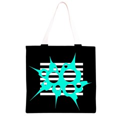 Cyan abstract design Grocery Light Tote Bag