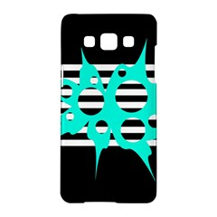 Cyan abstract design Samsung Galaxy A5 Hardshell Case