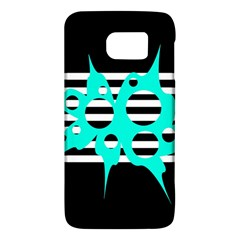 Cyan abstract design Galaxy S6