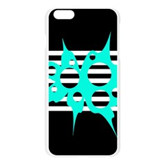 Cyan abstract design Apple Seamless iPhone 6 Plus/6S Plus Case (Transparent)