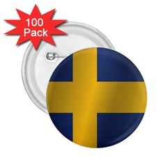 Flag Of Sweden 2.25  Buttons (100 pack)