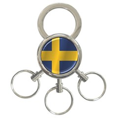 Flag Of Sweden 3-Ring Key Chains