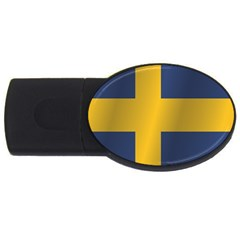 Flag Of Sweden USB Flash Drive Oval (2 GB)