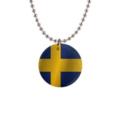 Flag Of Sweden Button Necklaces