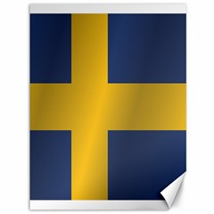 Flag Of Sweden Canvas 36  x 48