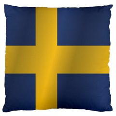 Flag Of Sweden Standard Flano Cushion Case (One Side)
