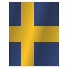 Flag Of Sweden Drawstring Bag (Large)