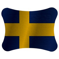 Flag Of Sweden Jigsaw Puzzle Photo Stand (Bow)