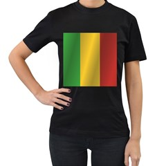 Flag Of Mali Women s T-Shirt (Black) (Two Sided)