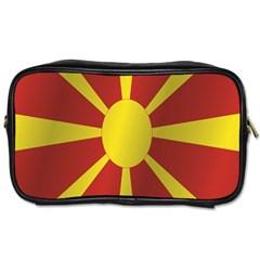 Flag Of Macedonia Toiletries Bags