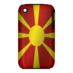 Flag Of Macedonia Apple iPhone 3G/3GS Hardshell Case (PC+Silicone)
