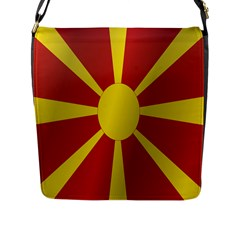 Flag Of Macedonia Flap Messenger Bag (L)