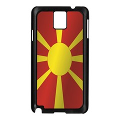 Flag Of Macedonia Samsung Galaxy Note 3 N9005 Case (Black)
