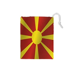 Flag Of Macedonia Drawstring Pouches (Small)