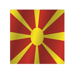 Flag Of Macedonia Small Satin Scarf (Square)