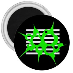 Green abstract design 3  Magnets