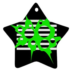 Green abstract design Ornament (Star)