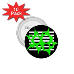 Green abstract design 1.75  Buttons (10 pack)