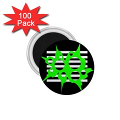 Green abstract design 1.75  Magnets (100 pack)