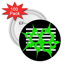 Green abstract design 2.25  Buttons (100 pack)