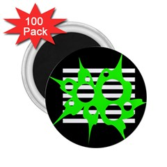 Green abstract design 2.25  Magnets (100 pack)