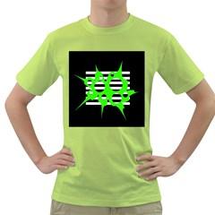 Green abstract design Green T-Shirt