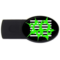 Green abstract design USB Flash Drive Oval (1 GB)