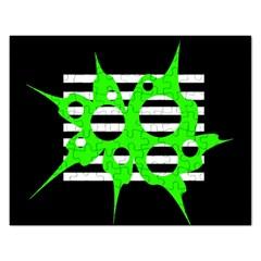 Green abstract design Rectangular Jigsaw Puzzl