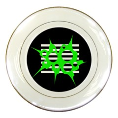 Green abstract design Porcelain Plates