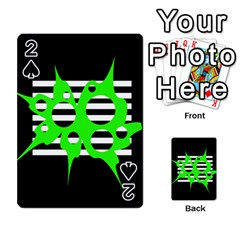 Green abstract design Playing Cards 54 Designs