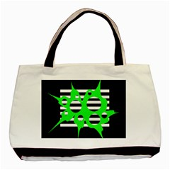 Green abstract design Basic Tote Bag