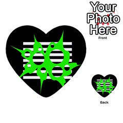 Green abstract design Multi-purpose Cards (Heart)