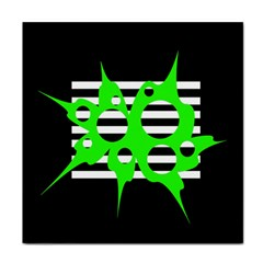 Green abstract design Face Towel