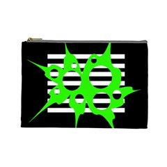 Green abstract design Cosmetic Bag (Large)