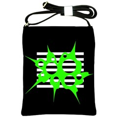 Green abstract design Shoulder Sling Bags