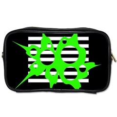 Green abstract design Toiletries Bags 2-Side