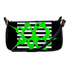 Green abstract design Shoulder Clutch Bags